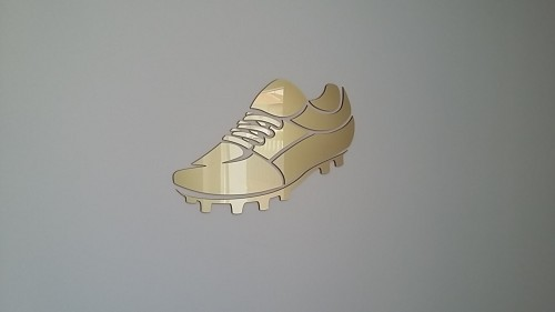 bota de ouro - corte laser de acrílico